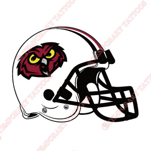Temple Owls Customize Temporary Tattoos Stickers NO.6451