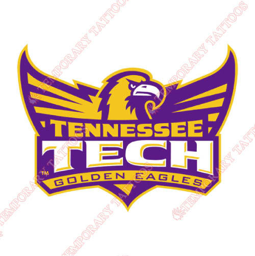 Tennessee Tech Golden Eagles Customize Temporary Tattoos Stickers NO.6458