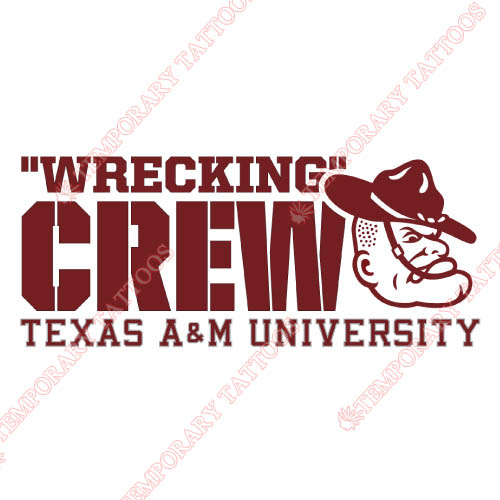 Texas A M Aggies Customize Temporary Tattoos Stickers NO.6484