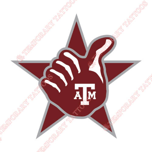 Texas A M Aggies Customize Temporary Tattoos Stickers NO.6486