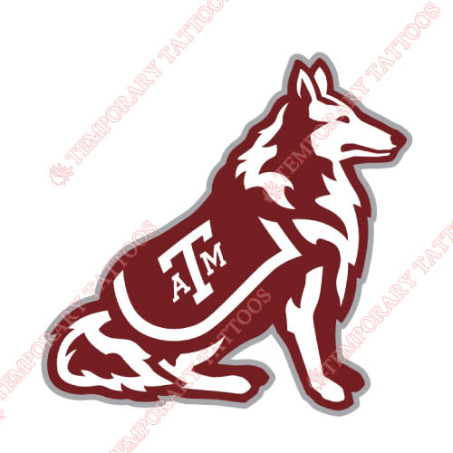 Texas A M Aggies Customize Temporary Tattoos Stickers NO.6489