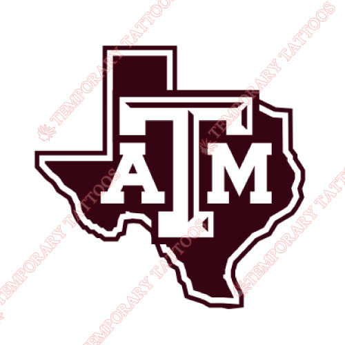 Texas A M Aggies Customize Temporary Tattoos Stickers NO.6490