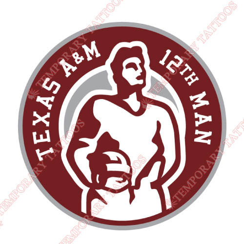 Texas A M Aggies Customize Temporary Tattoos Stickers NO.6491