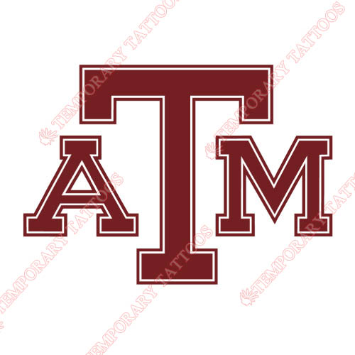 Texas A M Aggies Customize Temporary Tattoos Stickers NO.6492