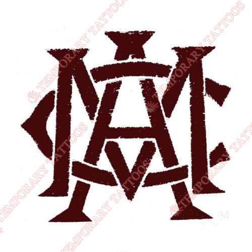 Texas A M Aggies Customize Temporary Tattoos Stickers NO.6494