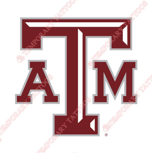 Texas A M Aggies Customize Temporary Tattoos Stickers NO.6495