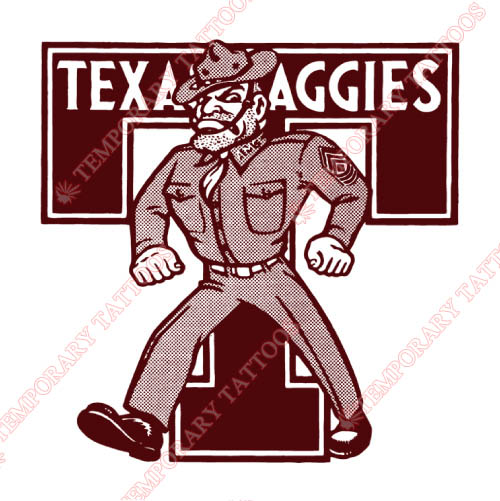 Texas A M Aggies Customize Temporary Tattoos Stickers NO.6496