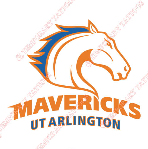 Texas Arlington Mavericks Customize Temporary Tattoos Stickers NO.6505