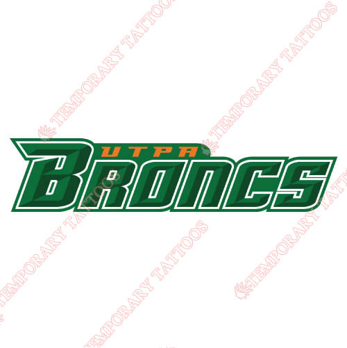 Texas Pan American Broncs Customize Temporary Tattoos Stickers NO.6519