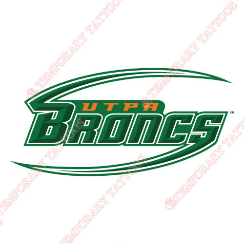 Texas Pan American Broncs Customize Temporary Tattoos Stickers NO.6521