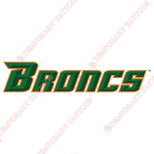 Texas Pan American Broncs Customize Temporary Tattoos Stickers NO.6523