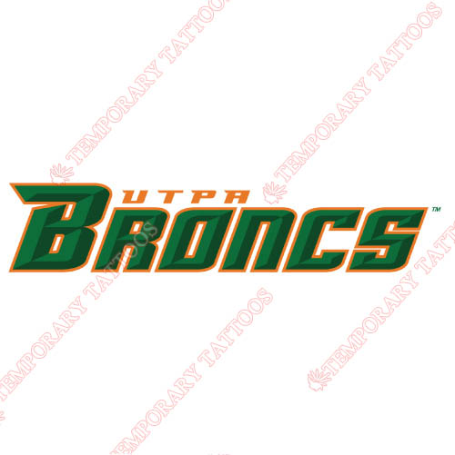 Texas Pan American Broncs Customize Temporary Tattoos Stickers NO.6526