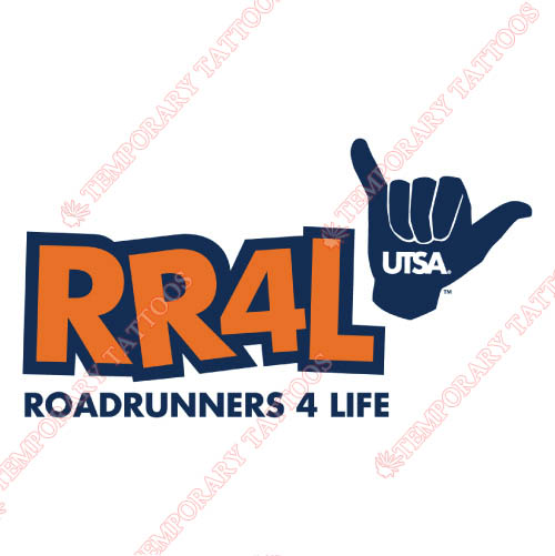 Texas SA Roadrunners Customize Temporary Tattoos Stickers NO.6531