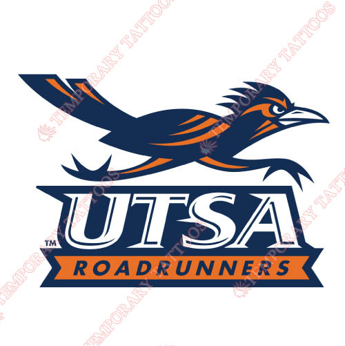 Texas SA Roadrunners Customize Temporary Tattoos Stickers NO.6534