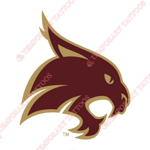 Texas State Bobcats Customize Temporary Tattoos Stickers NO.6549