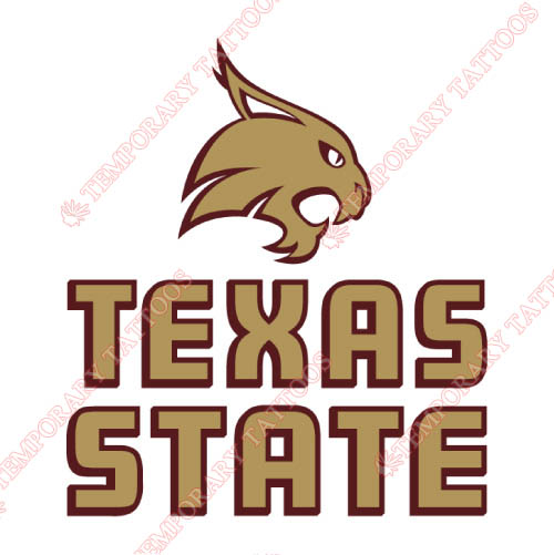 Texas State Bobcats Customize Temporary Tattoos Stickers NO.6551