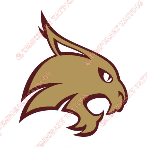 Texas State Bobcats Customize Temporary Tattoos Stickers NO.6552