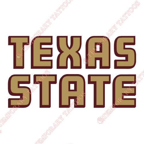 Texas State Bobcats Customize Temporary Tattoos Stickers NO.6553
