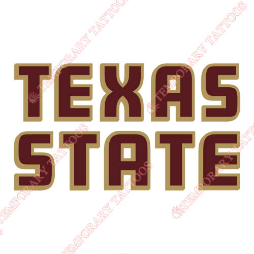 Texas State Bobcats Customize Temporary Tattoos Stickers NO.6554