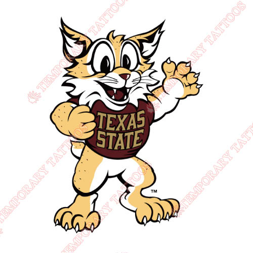 Texas State Bobcats Customize Temporary Tattoos Stickers NO.6555