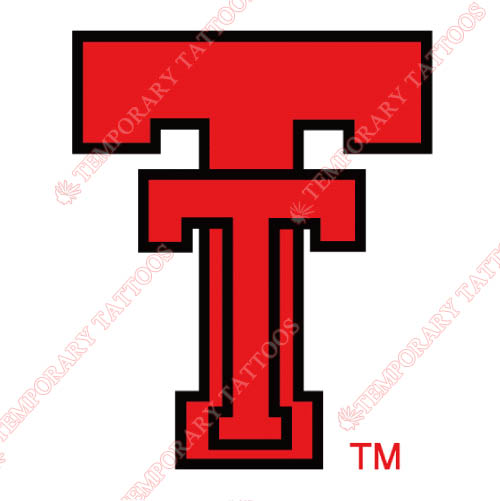 Texas Tech Red Raiders Customize Temporary Tattoos Stickers NO.6561