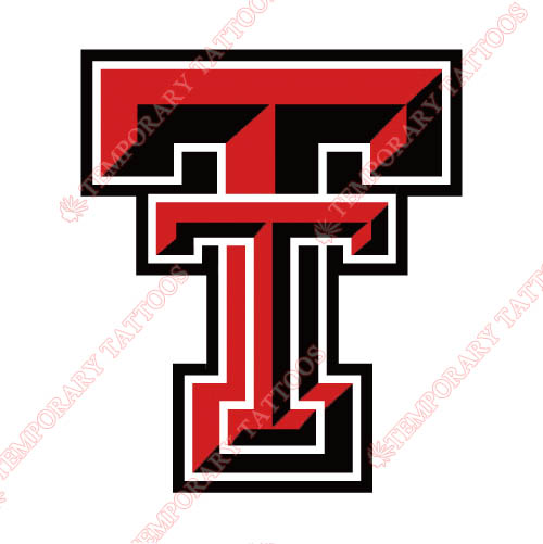 Texas Tech Red Raiders Customize Temporary Tattoos Stickers NO.6563