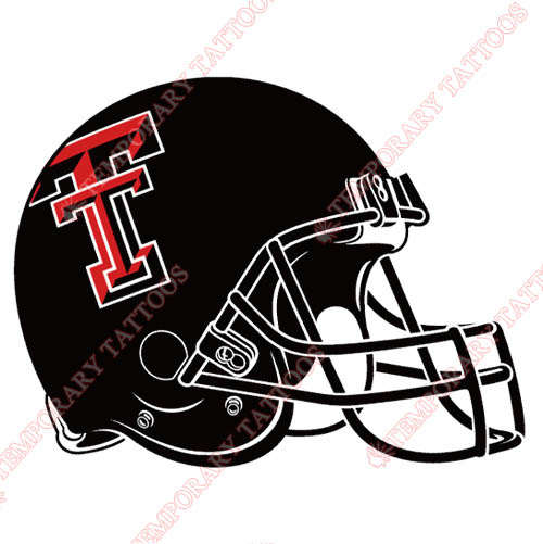 Texas Tech Red Raiders Customize Temporary Tattoos Stickers NO.6564