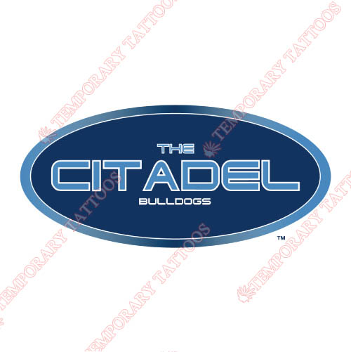 The Citadel Bulldogs Customize Temporary Tattoos Stickers NO.6565
