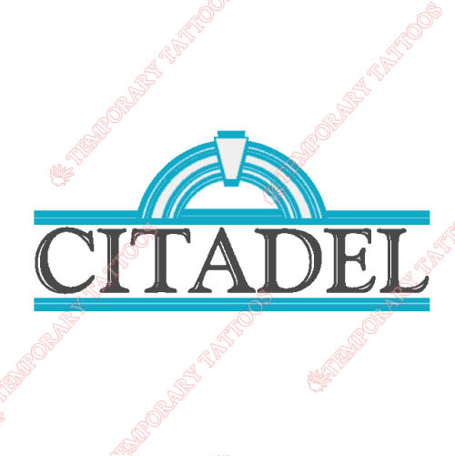 The Citadel Bulldogs Customize Temporary Tattoos Stickers NO.6566