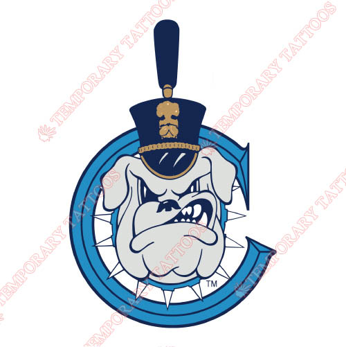 The Citadel Bulldogs Customize Temporary Tattoos Stickers NO.6567