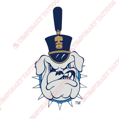 The Citadel Bulldogs Customize Temporary Tattoos Stickers NO.6568