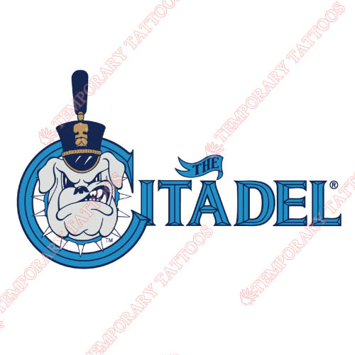 The Citadel Bulldogs Customize Temporary Tattoos Stickers NO.6570