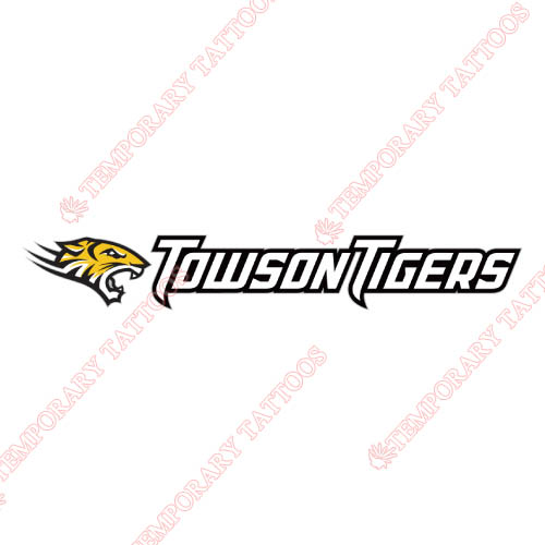 Towson Tigers Customize Temporary Tattoos Stickers NO.6576