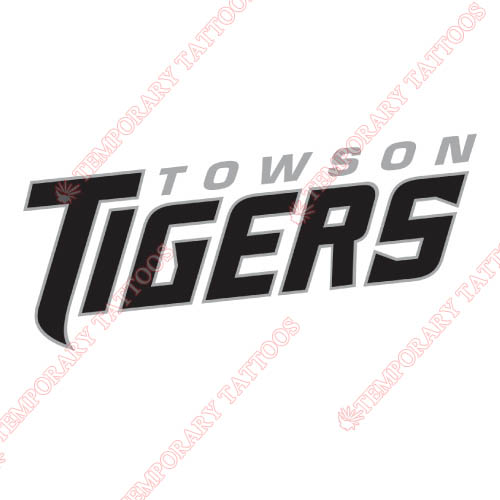 Towson Tigers Customize Temporary Tattoos Stickers NO.6577