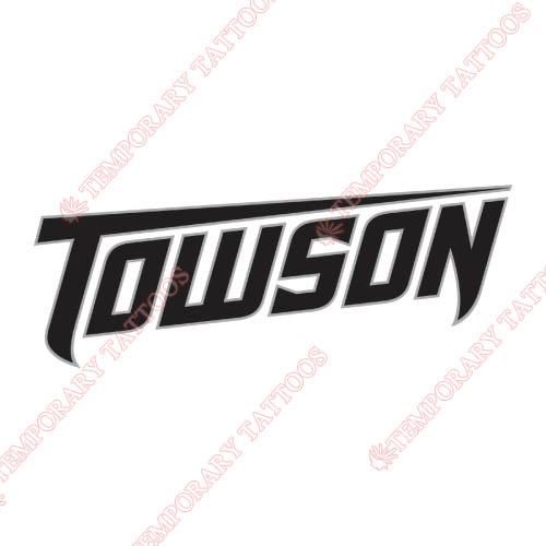Towson Tigers Customize Temporary Tattoos Stickers NO.6579