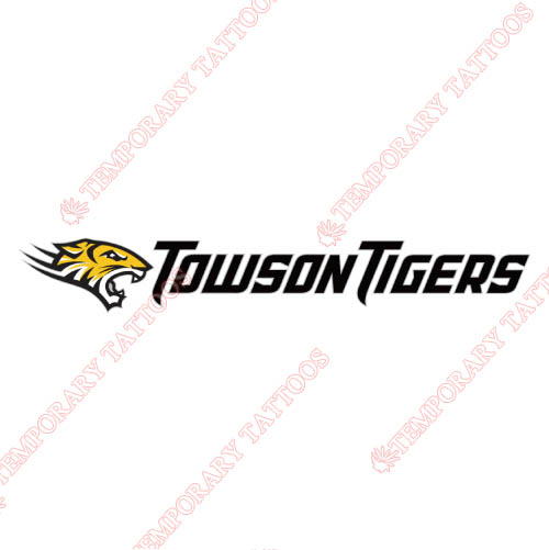 Towson Tigers Customize Temporary Tattoos Stickers NO.6580