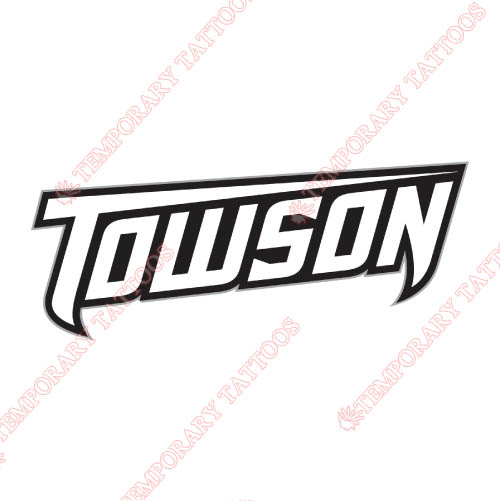 Towson Tigers Customize Temporary Tattoos Stickers NO.6581