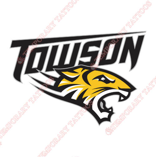 Towson Tigers Customize Temporary Tattoos Stickers NO.6582