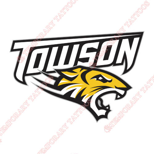 Towson Tigers Customize Temporary Tattoos Stickers NO.6583