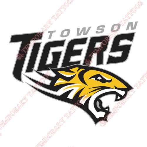 Towson Tigers Customize Temporary Tattoos Stickers NO.6584