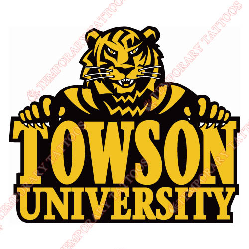 Towson Tigers Customize Temporary Tattoos Stickers NO.6585