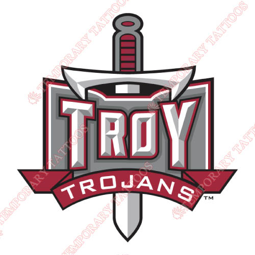 Troy Trojans Customize Temporary Tattoos Stickers NO.6591