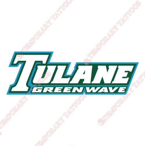 Tulane Green Wave Customize Temporary Tattoos Stickers NO.6610