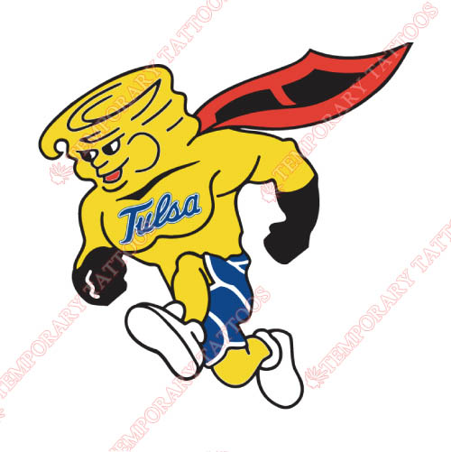 Tulsa Golden Hurricane Customize Temporary Tattoos Stickers NO.6617