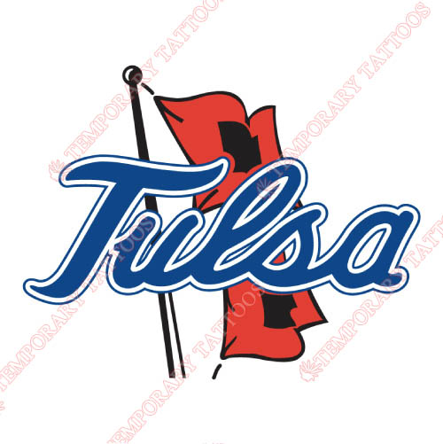 Tulsa Golden Hurricane Customize Temporary Tattoos Stickers NO.6625