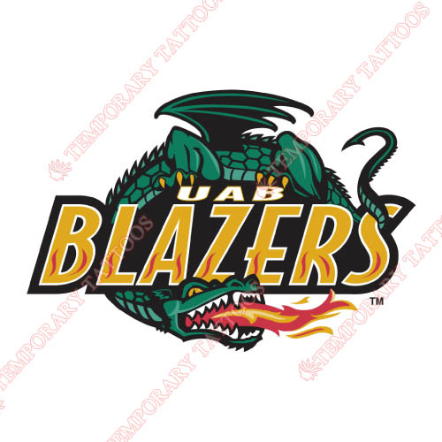 UAB Blazers Customize Temporary Tattoos Stickers NO.6628