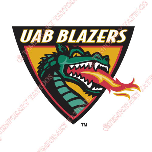 UAB Blazers Customize Temporary Tattoos Stickers NO.6629