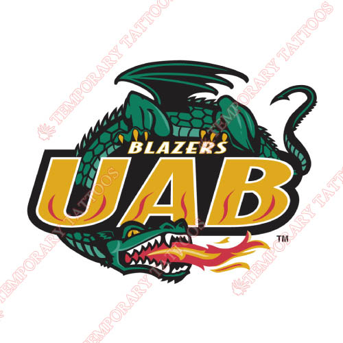 UAB Blazers Customize Temporary Tattoos Stickers NO.6630