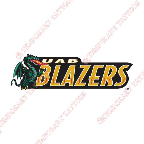 UAB Blazers Customize Temporary Tattoos Stickers NO.6631
