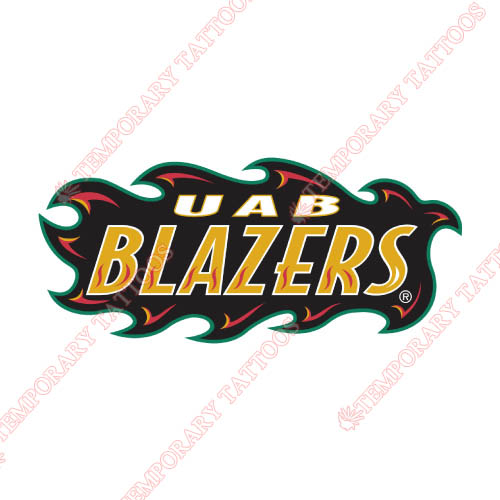 UAB Blazers Customize Temporary Tattoos Stickers NO.6633